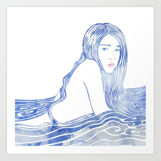 Water Nymph LXXVI Art Print