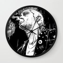 Smoke and Rain Wall Clock