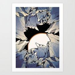 Asteroid cave Art Print