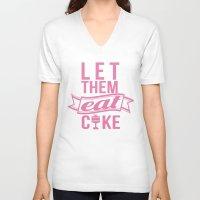 marie antoinette V-neck T-shirts featuring Marie Antoinette by Hoeroine