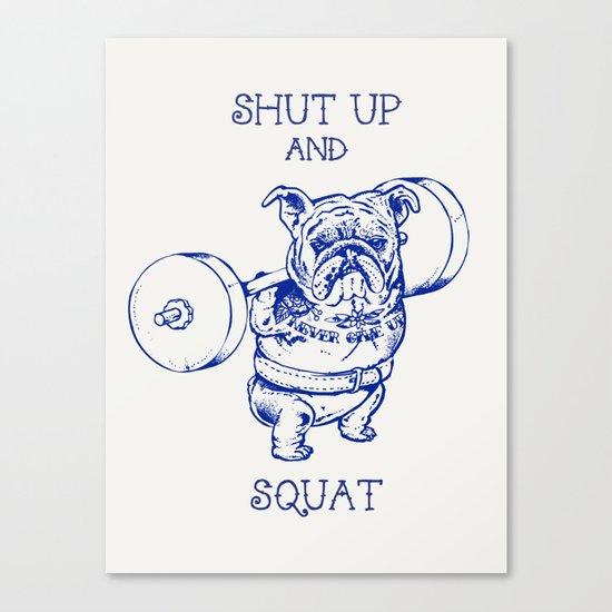English Bulldog Squat Canvas Print