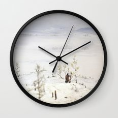 Tom Feiler Solitary Trapper Wall Clock