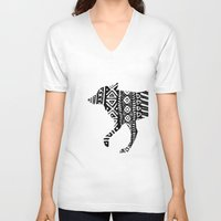 into the wild V-neck T-shirts featuring Wild by Samantha Crepeau