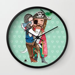 Vida pirata Wall Clock