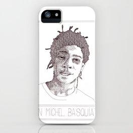 Jean-Michel Basquiat Portrait iPhone Case