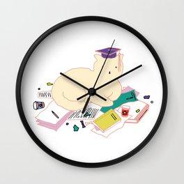 Clever Cat Wall Clock