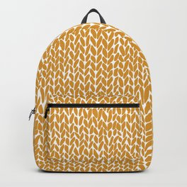 Hand Knit Orange Backpack