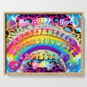 1997 Neon Rainbow Ouija Board by creepygirlclub