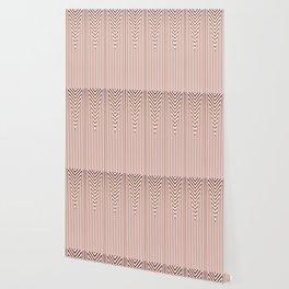 Art Deco Geometric Arrowhead Dusty Peach Design Wallpaper
