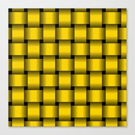 Large Gold Yellow Weave Canvas Print