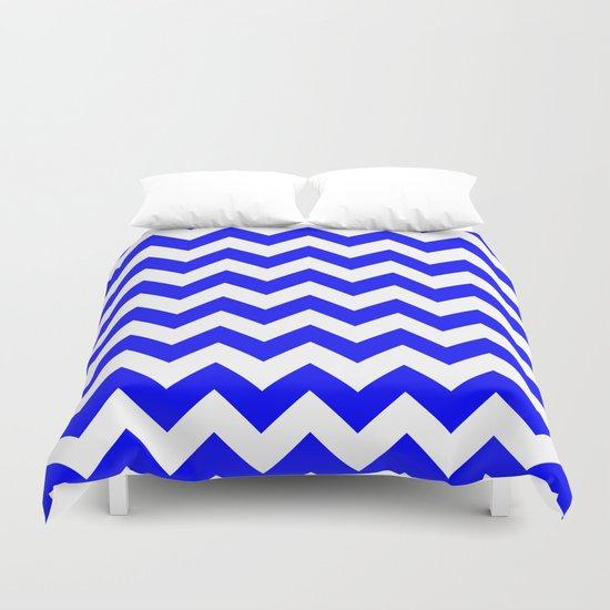 Chevron (Blue/White) Duvet Cover