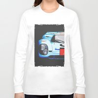 porsche Long Sleeve T-shirts featuring Porsche 917  by Barbo's Art