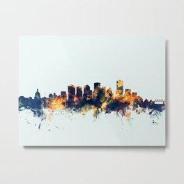 Edmonton Canada Skyline Metal Print