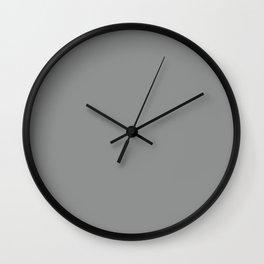 Neutral Gray Wall Clock