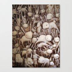 Bunny Pile Canvas Print