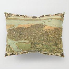 Map Of Oakland 1900 Pillow Sham
