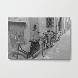 Bicycles in Lucca Metal Print