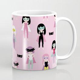 Super hero girls with masks Coffee Mug