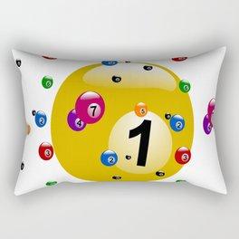 billiard ball ball game Rectangular Pillow