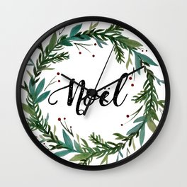 Noel Wreath Wall Clock