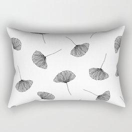 B&W Ginko Leaves Rectangular Pillow