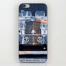 1939 classi car on old mid century Boston Harbor vintage map iPhone Skin