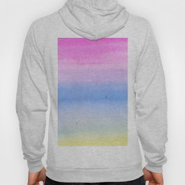 Hand painted pink blue yellow ombre watercolor paint Hoody