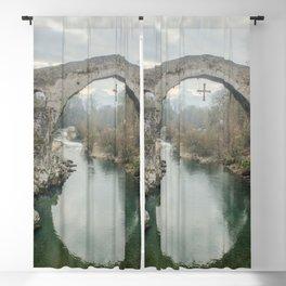 The hump-backed Roman Bridge Blackout Curtain