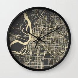 Memphis map yellow Wall Clock