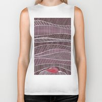 blankets Biker Tanks featuring Pile on the blankets by Laura Lee Gulledge