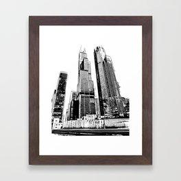 Chicago's Willis Tower Framed Art Print