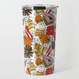 Retro Fall Floral Travel Mug