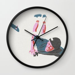 skateboarding 3 (lost time, risograph) Wall Clock