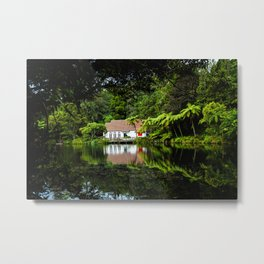 Pukekura Reflection Metal Print
