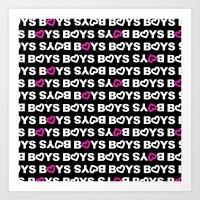boys Art Prints featuring Boys by aisha richardson