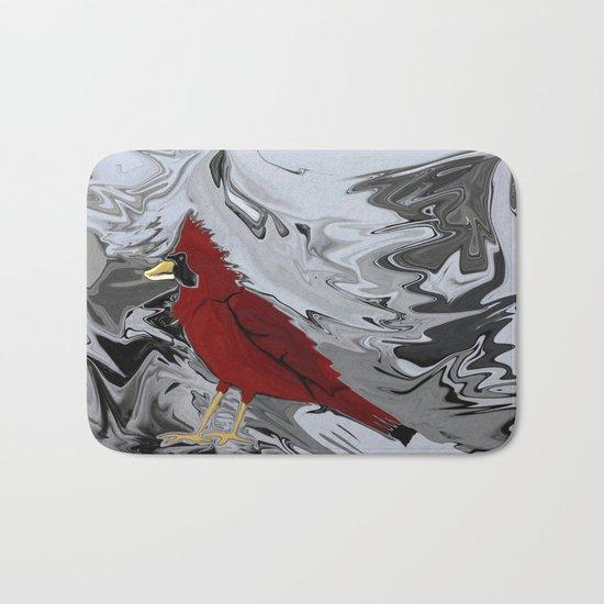 Crystal Cardinal Bath Mat