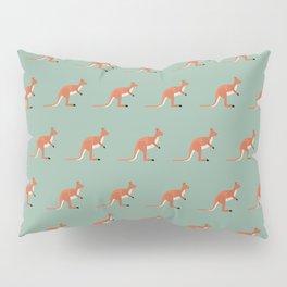 Kangaroos on green Pillow Sham