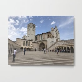 Basilica of St. Francis of Assisi - Assisi, Italy Metal Print