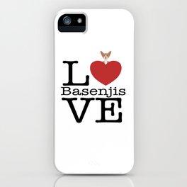 Love Cute Basenjis iPhone Case
