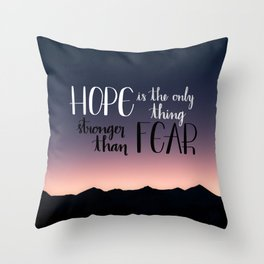 Hope Over Fear Throw Pillow