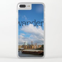 Wander. Thames River. Clear iPhone Case