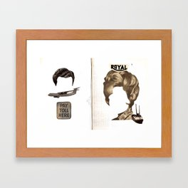 Pay The Toll Framed Art Print