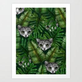 Jungle Kittens Art Print