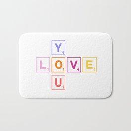 Scrabble love you Bath Mat