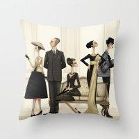 christian schloe Throw Pillows featuring Christian by Matias G. Martinez