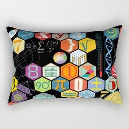 Math in color Black B Rectangular Pillow