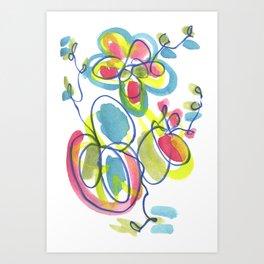Entwining Vines Art Print