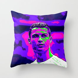 Ronaldo - Neon Throw Pillow