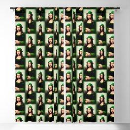 Lucky Mona Lisa - St Patrick's Day Blackout Curtain