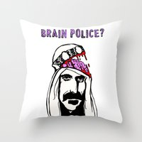 zappa Throw Pillows featuring Who Are The Brain Police, Frank Zappa Sheik Yerbouti! by CreepWerks